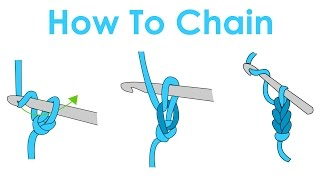 How to Slip Kฑot and Chain - Crochet Lesson 1