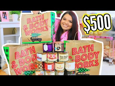 I Bought $500 Of Candles | HUGE BATH & BODY WORKS HAUL!