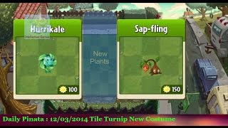 Plants vs Zombies 2 - Update New Plants of Frostbite Caves Maps Pinata 03 12 14 Hurrikale and Sap Fling