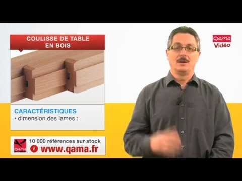 coulisse de table en bois pour rallonges centrales par qama youtube. Black Bedroom Furniture Sets. Home Design Ideas