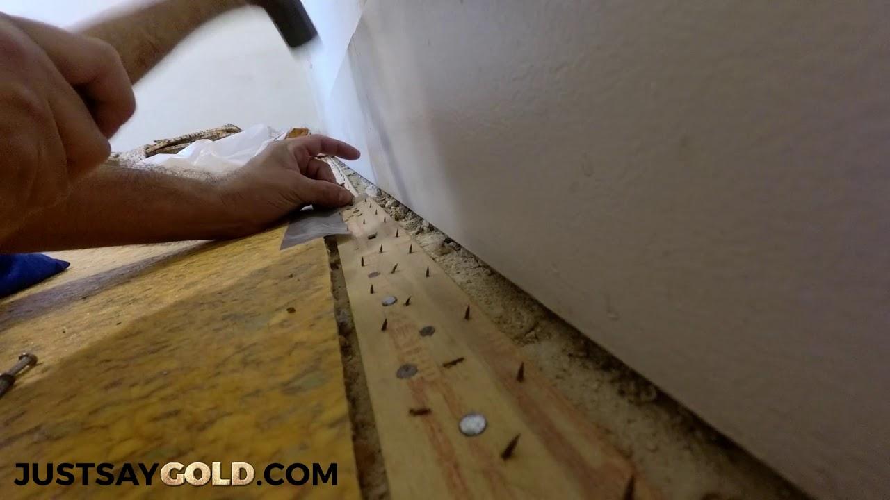 Carpet Installation In Sacramento Ca Nailing Through Vct