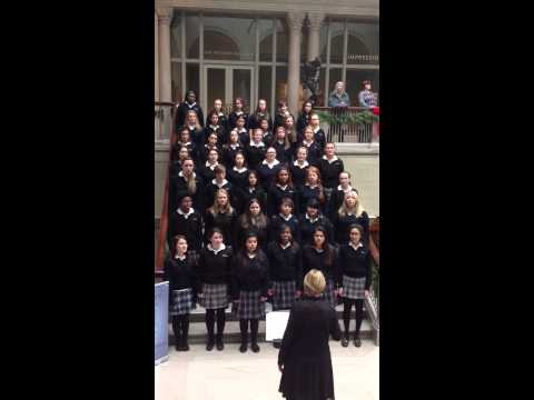 Trinity High School Chior Sings at the Art Institute, Chicago 2014