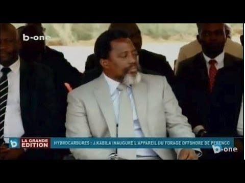 Le Pres. Joseph KABILA inaugure l'Appareil du Forage OFFSHORE de PERENCO a Mwanda, Kongo Central