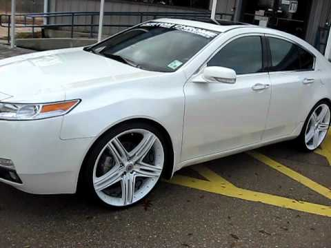 09 Acura Tl On 22 Wheels Dropstar Tis Youtube