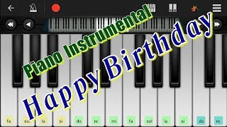 Piano Instrumental dengan Lagu Happy Birthday