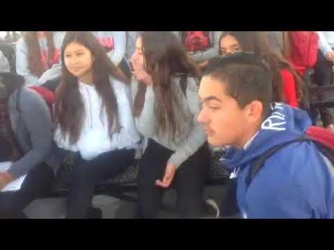 Kids protest against gun violence in castle park middle school