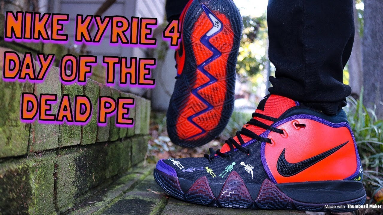 new concept 45a2b a54bd NIKE KYRIE 4 - DAY OF THE DEAD REVIEW & DOPE ON FEET!!