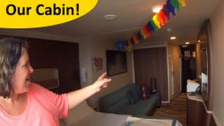 Day 1 Cabin & Lunch! Norwegian ESCAPE Cruise Vlog ep 2
