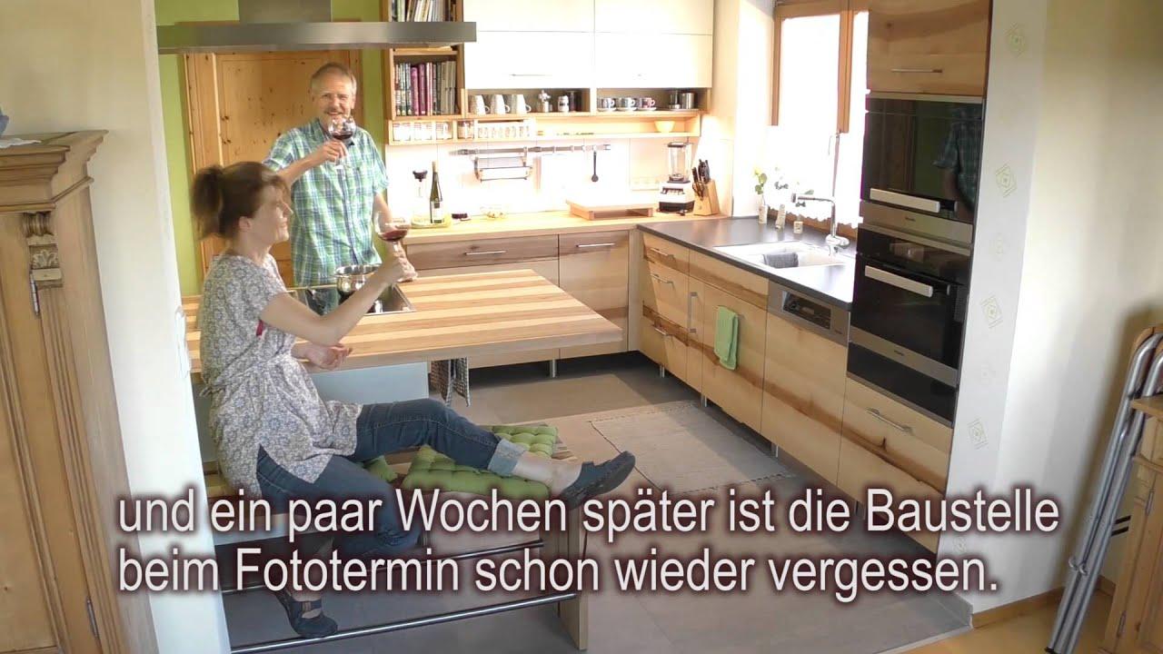 Massivholzküche in fränkischer Elsbeere - Entstehung und Fototermin ...