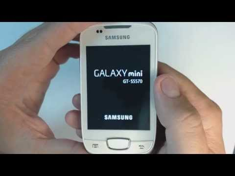 Samsung Galaxy mini S5570 - How to reset - Como restablecer datos de fabrica