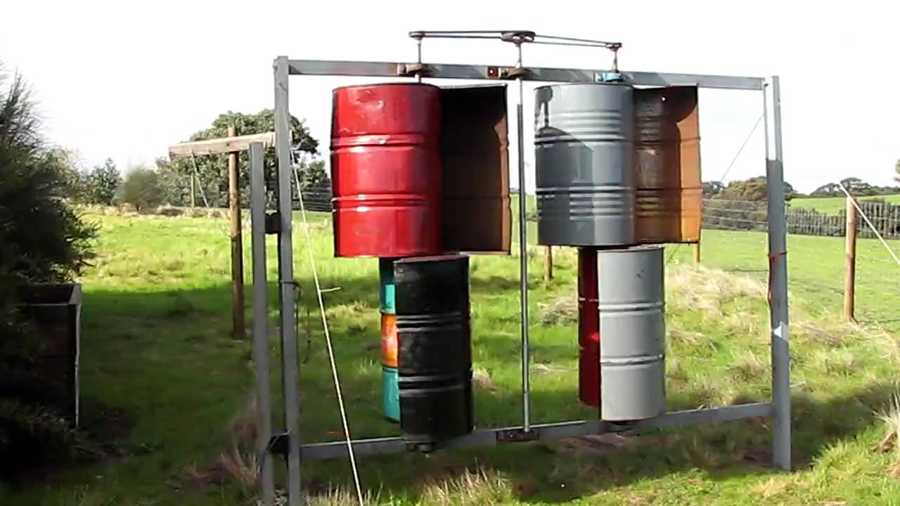Savonius Vawt 44 Gallon Barrel Wind Turbine Youtube
