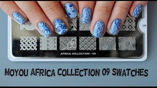 Фото Moyou Africa Collection 09 Swatches   Обзор пластины