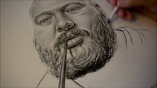 Pencil Fingerz Draws Action Bronson