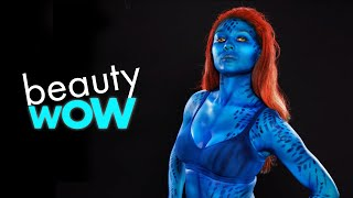 WATCH THIS MODEL SHAPE SHIFT INTO MYSTIQUE | BEAUTY WOW