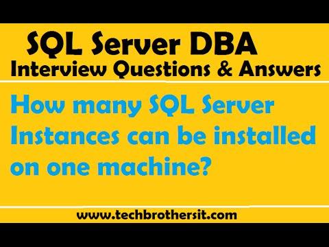 SQL Server DBA Interview Questions