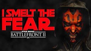I SMELT THE FEAR! - Star Wars Battlefront 2 - Darth Maul Gameplay