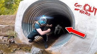 EXPLORING THE HAUNTED TUNNEL 😱 (THE RAKE) thumbnail