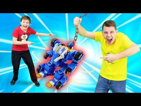 Видео с игрушками Монкарт - Как поймать Мегароида Лео? – Игры гонки.