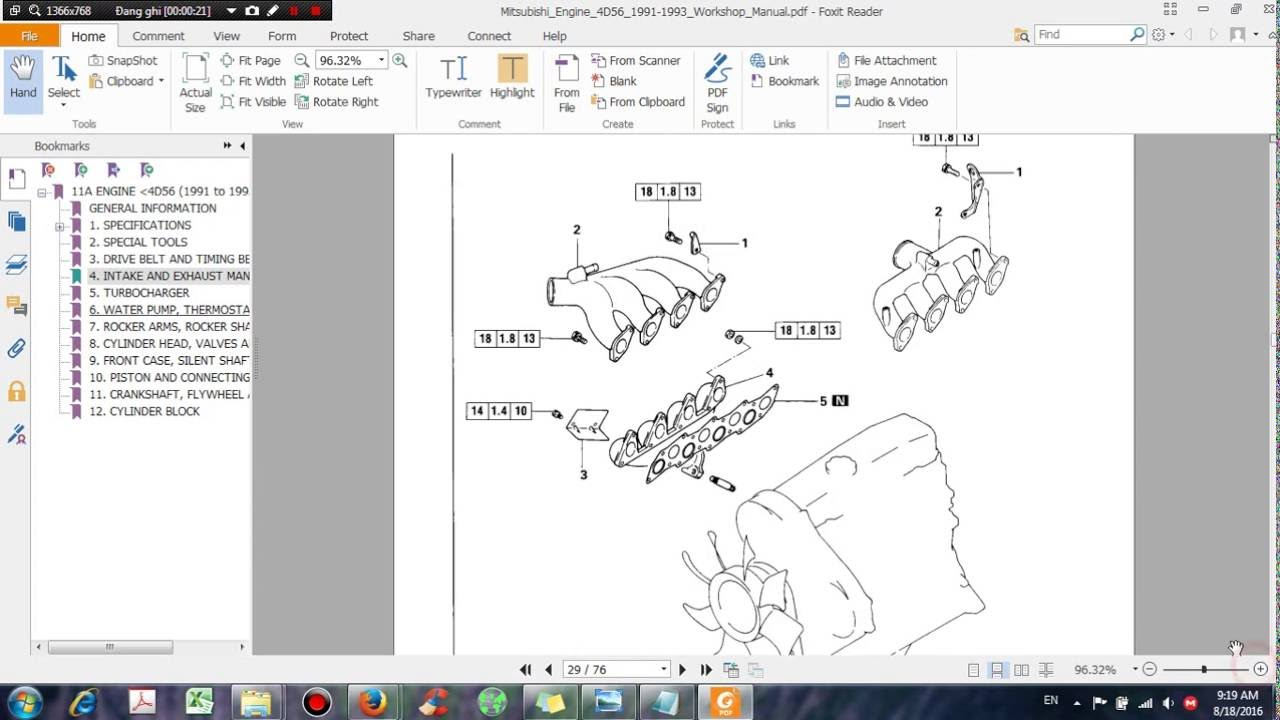 hight resolution of mitsubishi engine 4d56 1991 1993 workshop manual dhtauto com