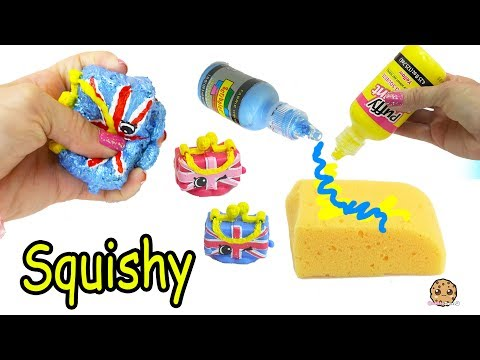 DIY Squishy UK Holiday Shopkins Season 8 Easy Craft Do It Yourself - Cookie Swirl C Video