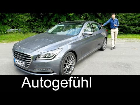 New Hyundai Genesis luxury sedan FULL REVIEW test driven 2016 Autogefhl