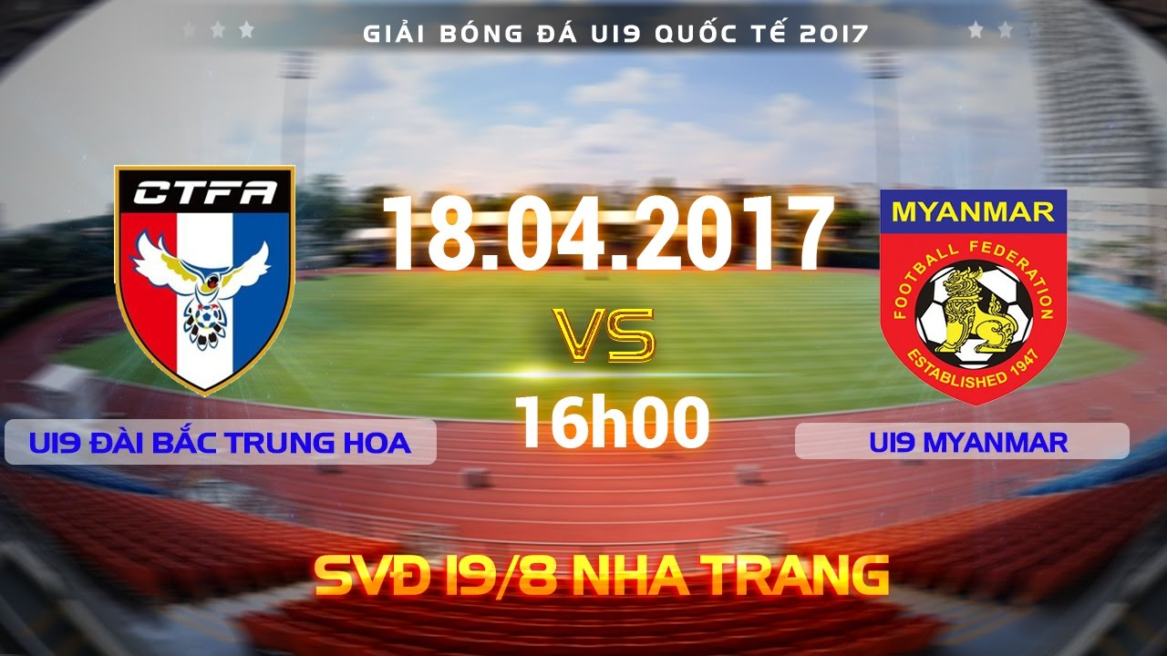 U19 Đài Loan vs U19 Myanmar