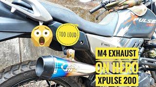 Hero xpulse 200 aftermarket exhaust sound modified || xpulse 200 exhaust modified  || m4 exhaust
