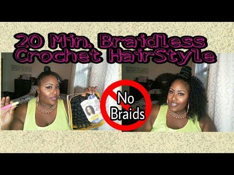 20 minute Crochet Hairstyle(Braid less )
