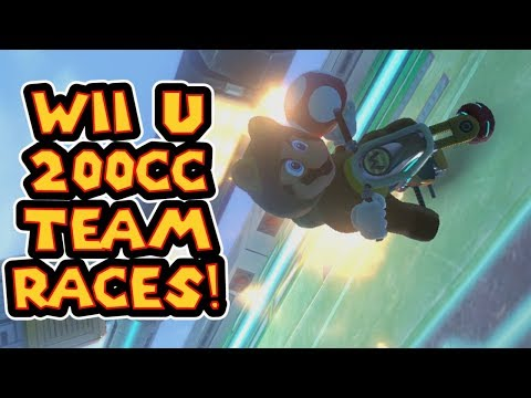 Mario Kart 8 Wii U 200cc Clan War Like Team Races!