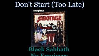 Black Sabbath - Don't Start (Too Late) - 02 -  Lyrics / Subtitulos en español (Nwobhm) Traducida