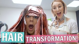 Dying My Hair & Cutting it Short! Hair Transformation Vlog!