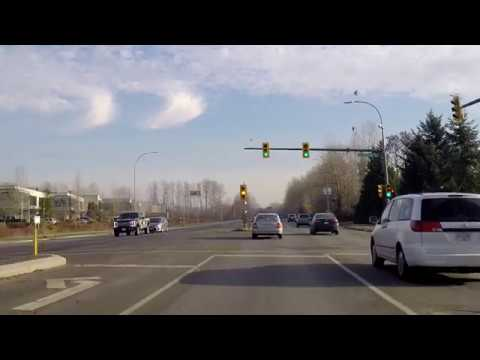 Driving to New Westminster / Burnaby Border from Vancouver BC Canada 2017 Winter Season