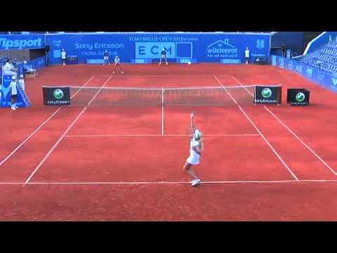 Kristyna Pliskova vs Anabel Medina Garrigues Prague Open 2010
