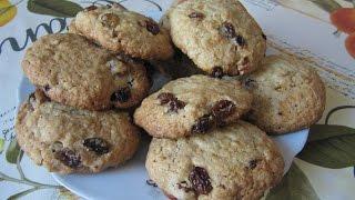 Овсяные печенья с изюмом и орехами. Несравненное удовольствие!