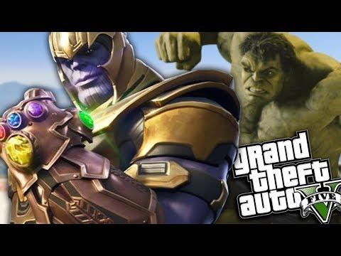 GTA 5 Mods - THANOS VS HULK MOD w/ SUPER POWERS (GTA 5 PC Mods Gameplay)