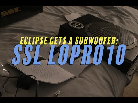 Download Eclipse gets a Sub! SSL LoPro10 Install & Review - Car Rant 8.04