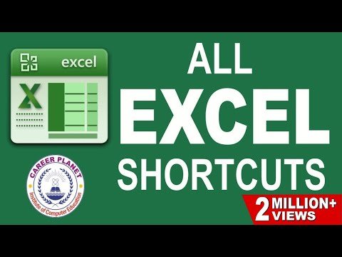 MS EXCEL- SHORTCUT KEYS Part-1 in Hindi| MS Excel Training