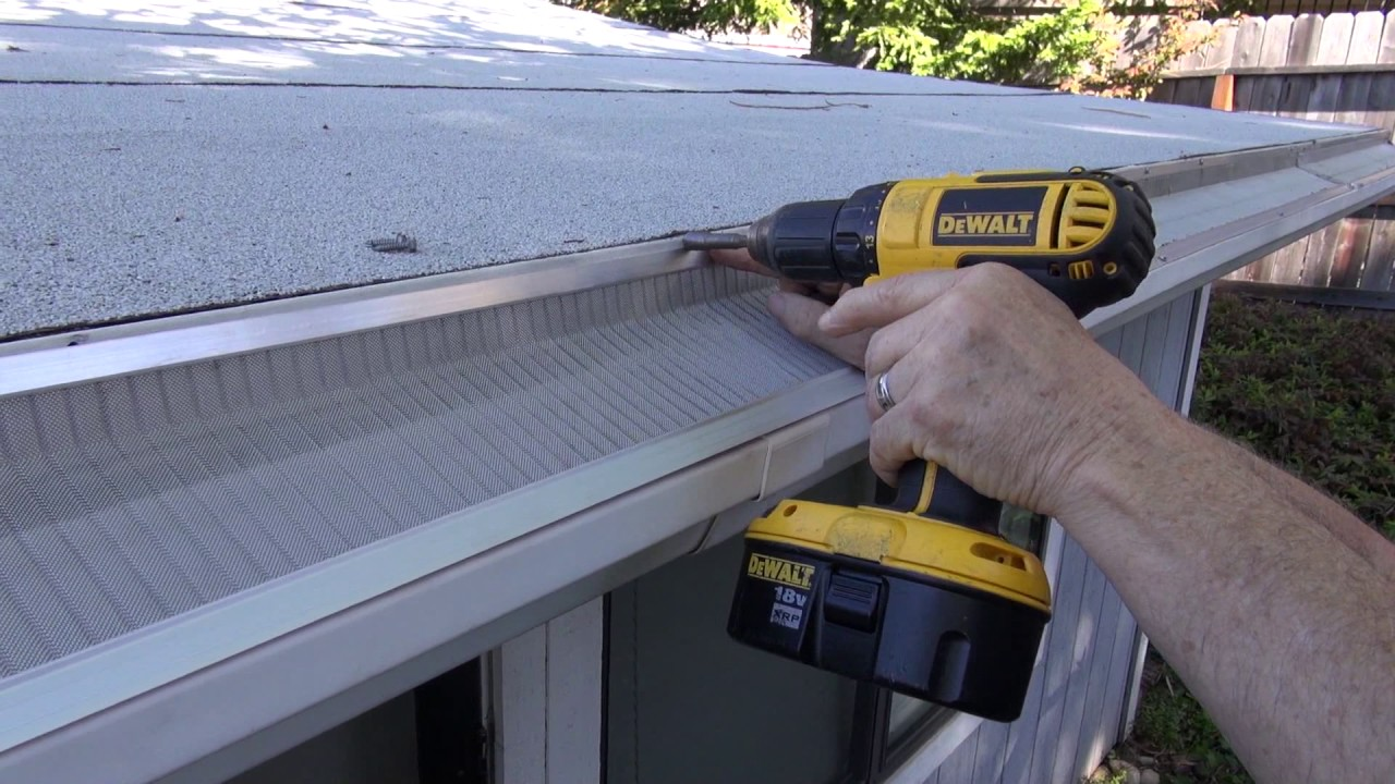 Installing gutter guards on vinyl gutters youtube installing gutter guards on vinyl gutters solutioingenieria