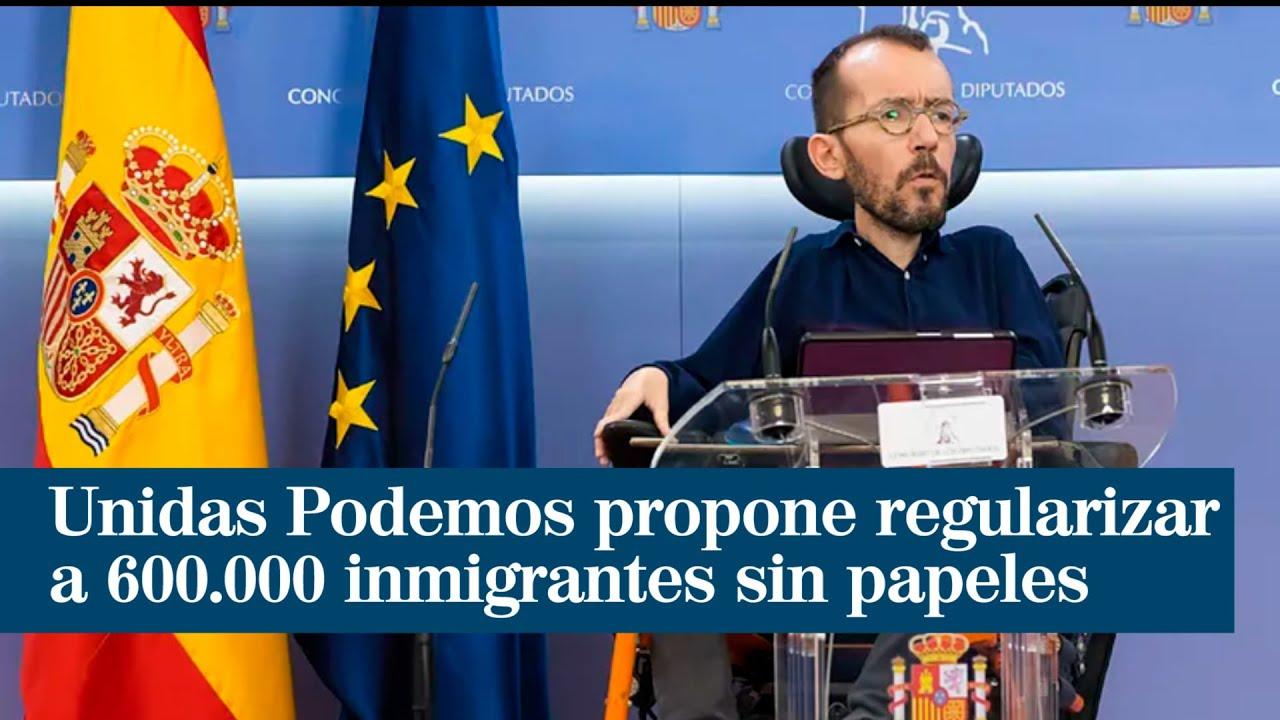 Unidas Podemos propone regularizar a los 600.000 inmigrantes sin papeles