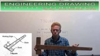 इस विडिओ में टी स्क्वायर के विभिन भागो की जानकारी तथा वर्गीकरण को स...