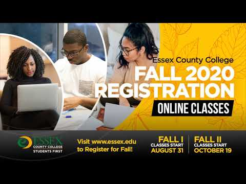 Essex County College Fall Registration Promo 2020