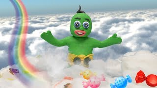 Green Baby in RAINBOW DREAMING - Stop Motion Cartoons For Kids