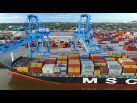 Cranes: Port of New Orleans - DJI Phantom 3 Professional Drone Video