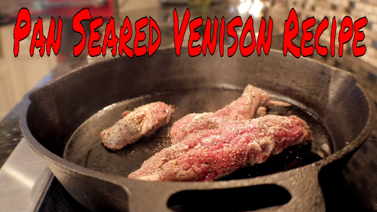 Pan Seared Venison Tenderloin Recipe Youtube