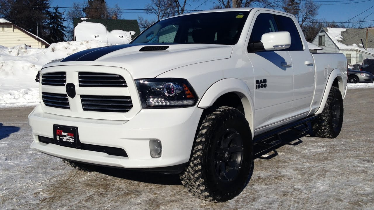 "2013 Dodge Ram 1500 Sport For Sale >> Lifted 2013 Ram 1500 Sport - Winnipeg MB - Leveling Kit, 35"" Toyo Open Country M/T's - YouTube"