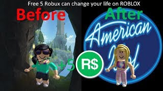 Roblox - Giving a girl free 5 Robux [Roblox Social Experiment]