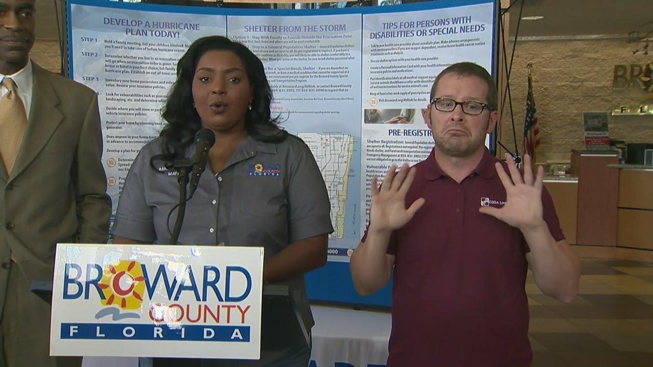 Broward Talks  >> 3pm Update Broward County Mayor Talks Irma Preps School Closings