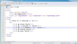 HTML & CSS Basic Pseudo Classes :- :First-child, :Only-child and :Last-child