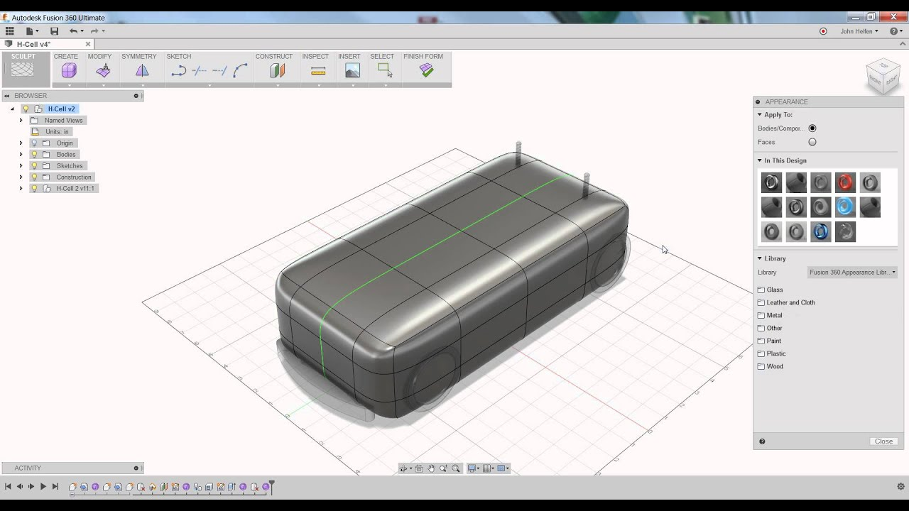 Fusion 360 - Changing Appearance