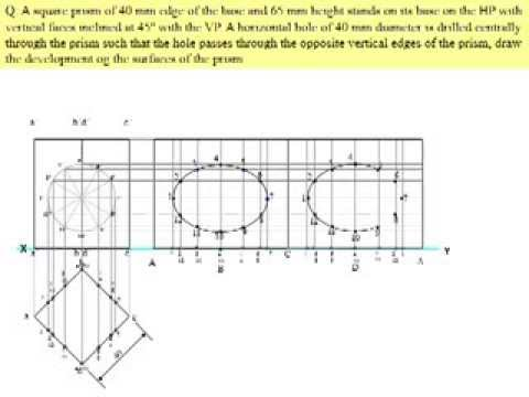 STUDY OF DEVELOPMENT OF SURFACES OF SOLIDS IN ENGINEERING DRAWING